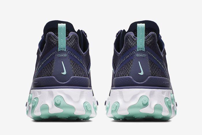 Nike React Element 55 Dark Obsidian Heels