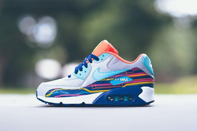 Nike Air Max 90 Prem Mesh Gs 724882 001 Sneaker Politics 10 1024X1024