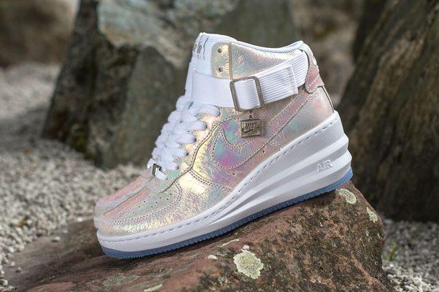 Nike Wmsn Lunar Force 1 Sky Hi Qs Mother Of Pearl 5