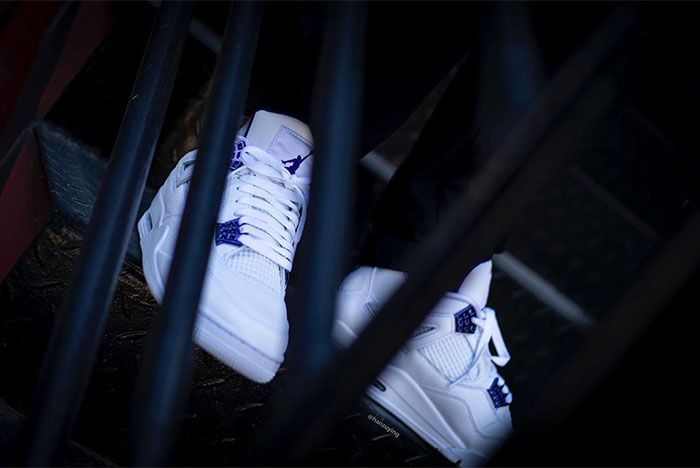Air Jordan 4 Court Purple Stairs