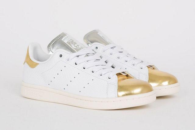 Adidas Stan Smith White Metallic Gold Silver 3