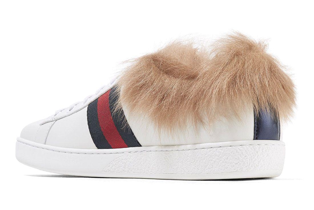 Gucci Ace Sneaker With Lamb Fur Sneaker Freaker 1