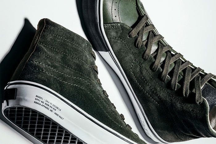 Haven Vans Vault Sk8 Hi Green Detail