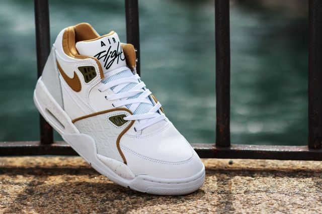 Nike Air Flight 89 White Flat Gold Pure Platinum 2
