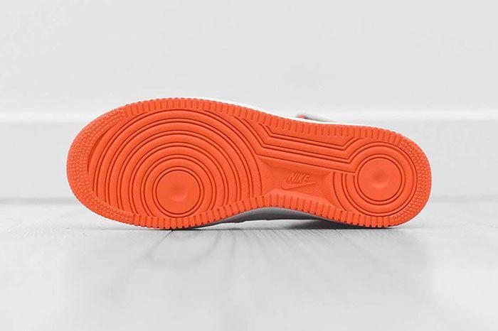 Nike Air Force 1 Mid White Orange 4