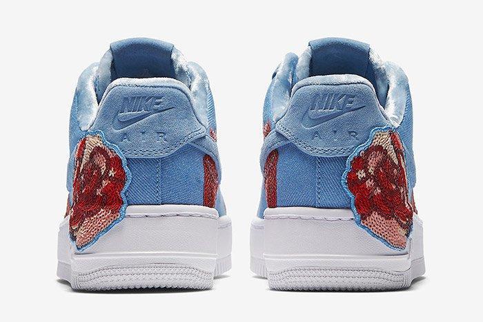 Nike Air Force 1 Denim Floral Seqine 2