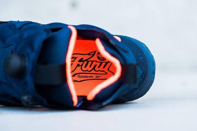 Reebok Insta Pump Fur Navy Orange 2