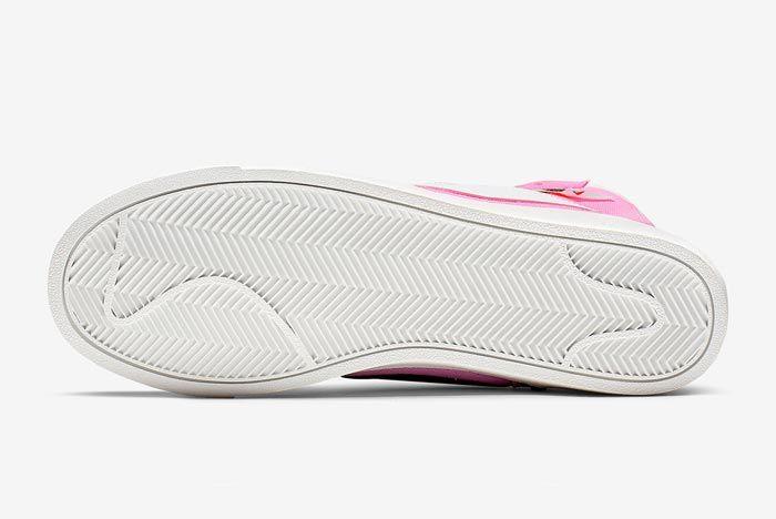 Nike Blazer Rebel Mid Psychic Pink Outsole