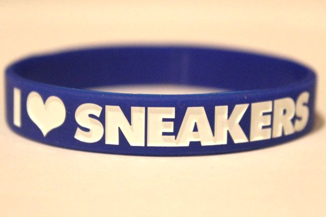 I Love Sneaker Blue Wristband 1