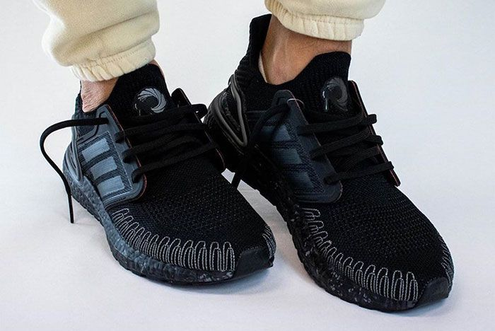 James Bond 007 Adidas Ultra Boost On Foot Three Quarter Lateral Side Shot