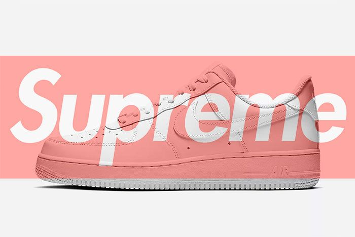 Supreme X Nike Air Force 1 Banner Mock Up