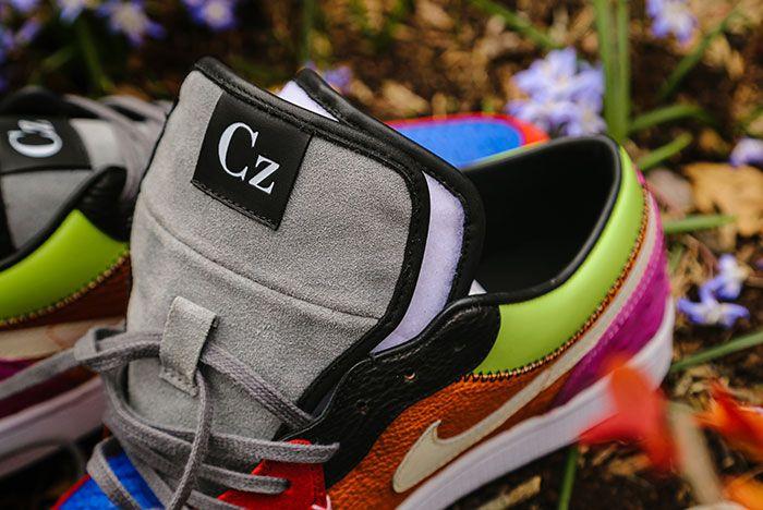 Ceeze Air Jordan 1 Viotech Custom Tongue Close