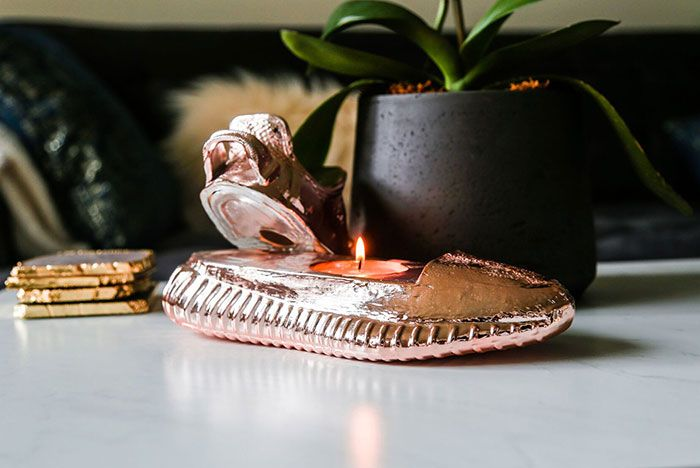 Ceeze Yeezy Sculptures Sillver Rose Gold Candle2
