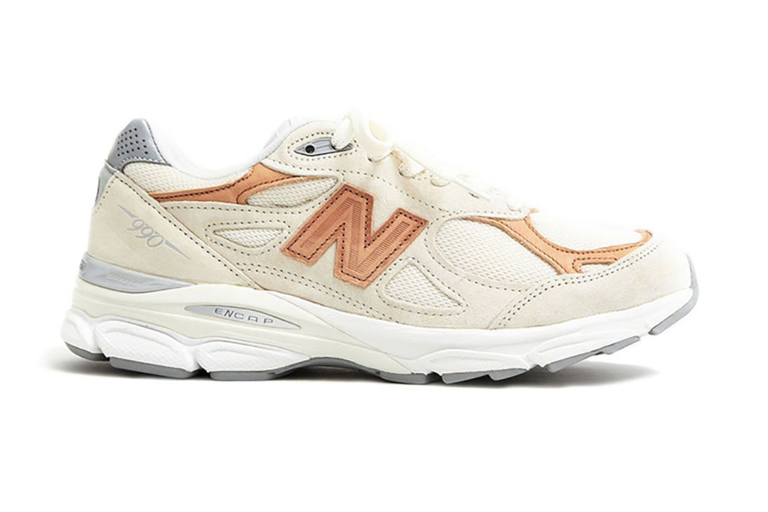 Todd Snyder New Balance 990V3 Pale Ale Lateral