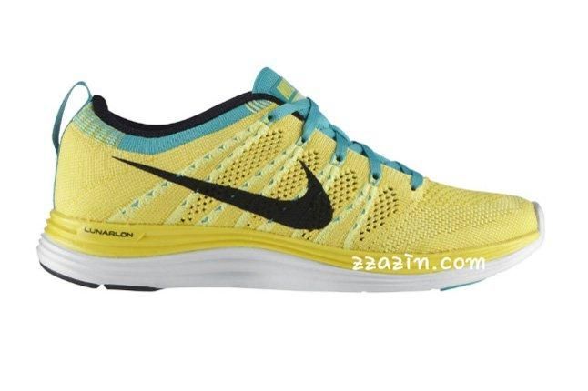 Nike Wmns Flyknit Lunar1 Yellow Teal 1