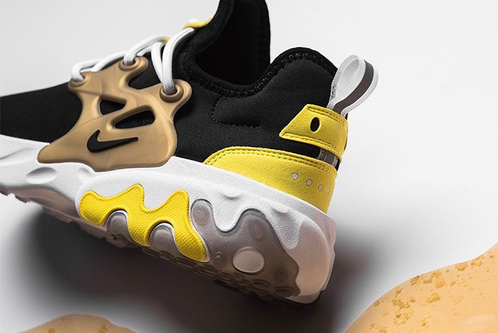 Nike React Presto Brutal Honey Av2605 001 Heel Shot Close Up 7