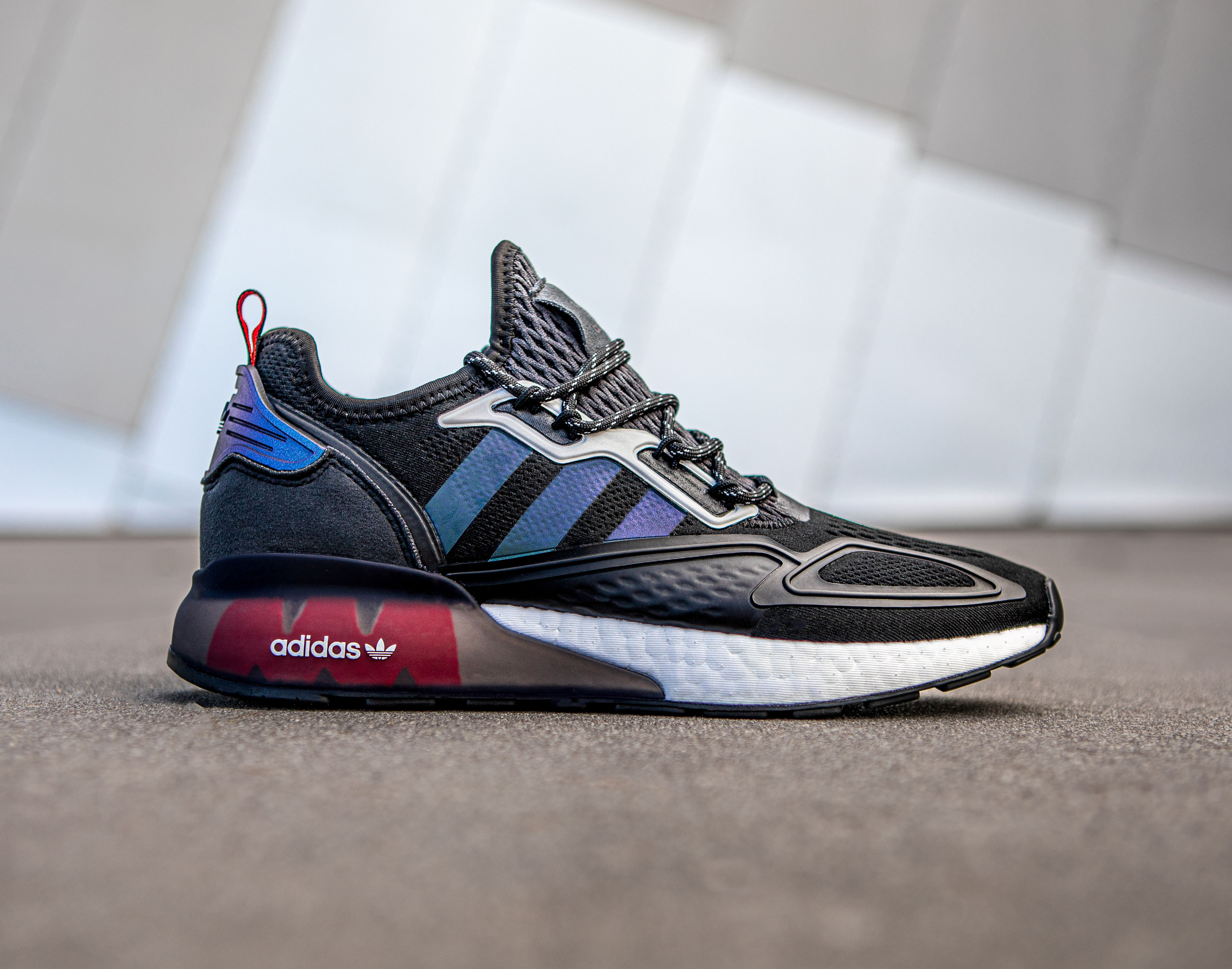 adidas ZX 2K BOOST (Black/Solar Red)