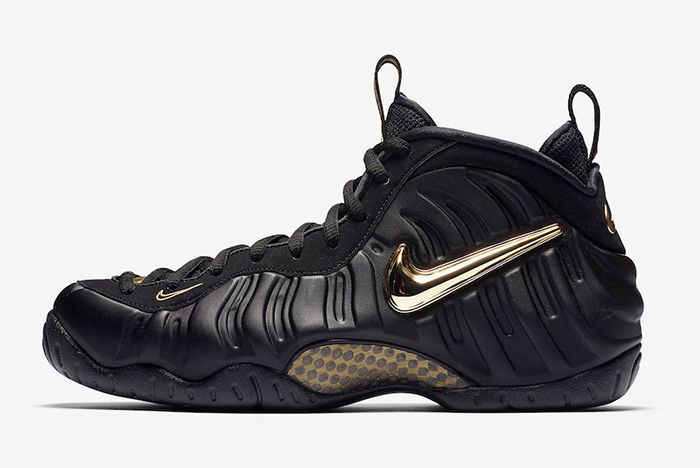 Nike Air Foamposite Pro Black Gold 1