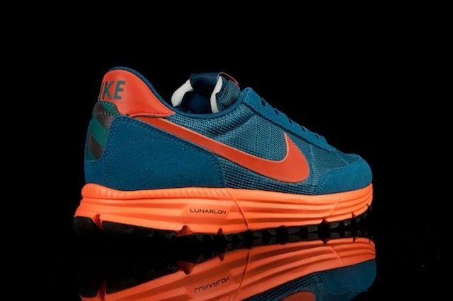 Nike Lunar Ldv Trail Qs Blue Org Heel Quarter