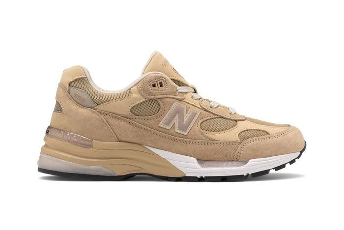 New Balance Made In Usa 992 Tan White Lateral
