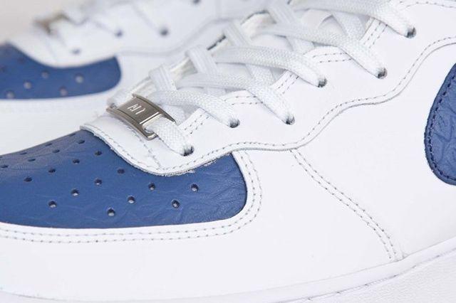 Nike Af1 Mid 07 White Blue Legend 2