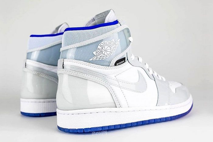 Air Jordan 1 High Zoom R2 T White Racer Blue Ck6637 104 Rear Angle