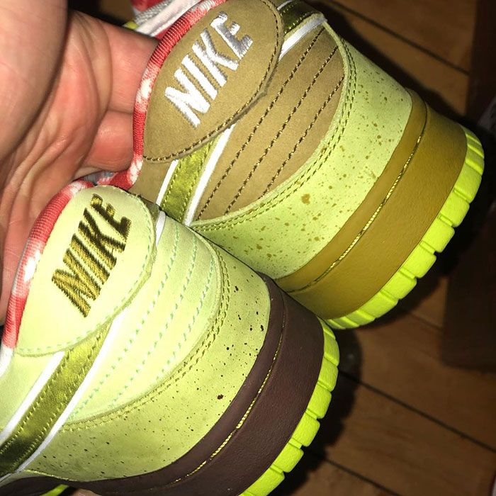 Concepts Nike Sb Dunk Lobster Alternate Green Heel