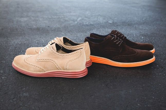 Cole Haan Lunargrand Wingtip Ss13 Bone Brown Hero