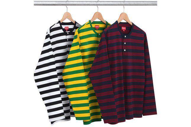 Striped Henley Shirt 1