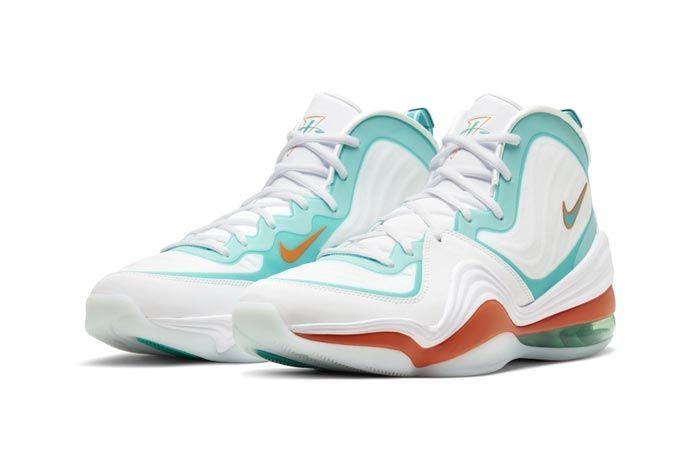 Nike Air Penny 5 Miami Dolphins Pair