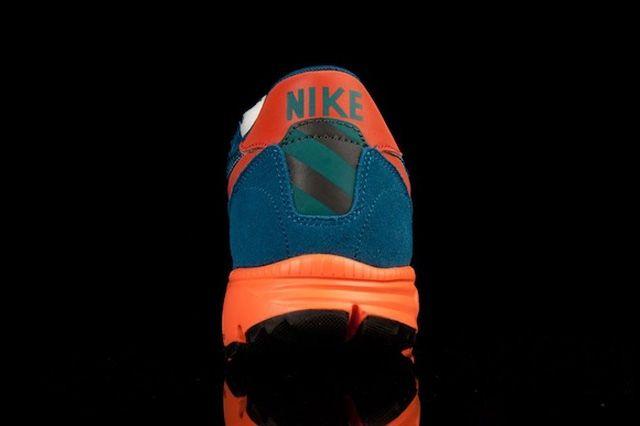 Nike Lunar Ldv Trail Qs Blue Org Heel Profile