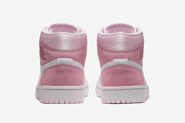 Air Jordan 1 Mid Wmns Digital Pink Heels