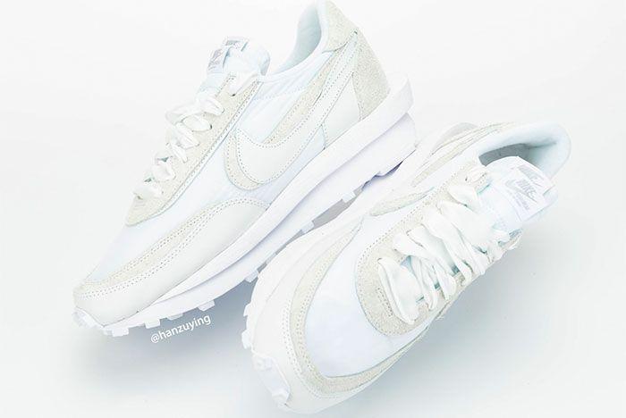 Sacai Nike Ldwaffle White Nylon Mid