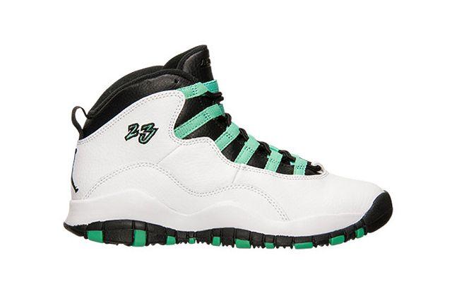 Air Jordan 10 Gg White Verde Black
