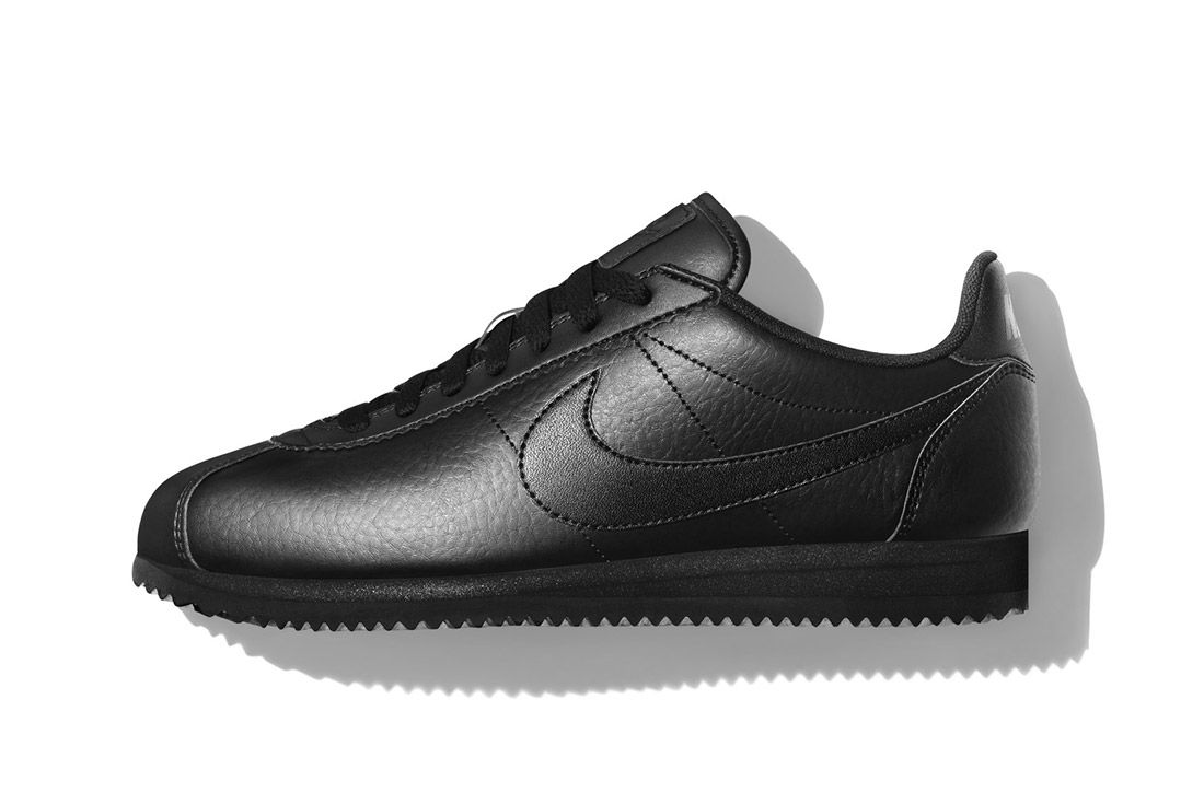 Nike Beautiful Powerful Black Leather Cortez