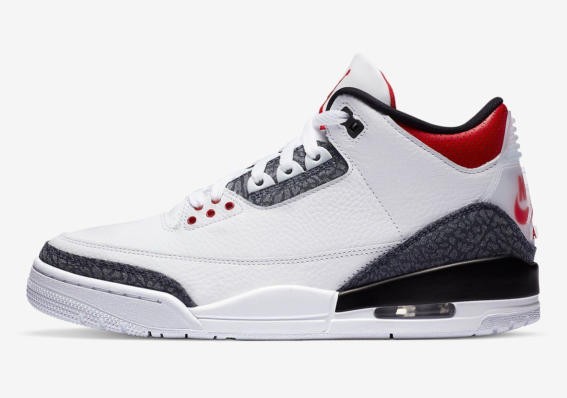 Air Jordan 3 Fire Red Left