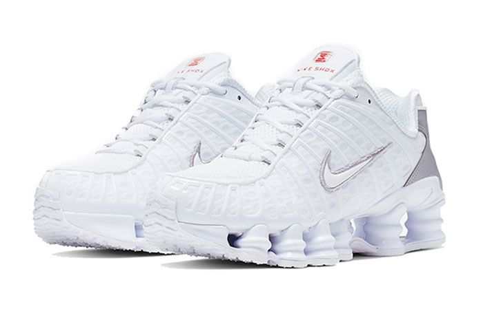 Nike Shox Tl Metallic White Toe