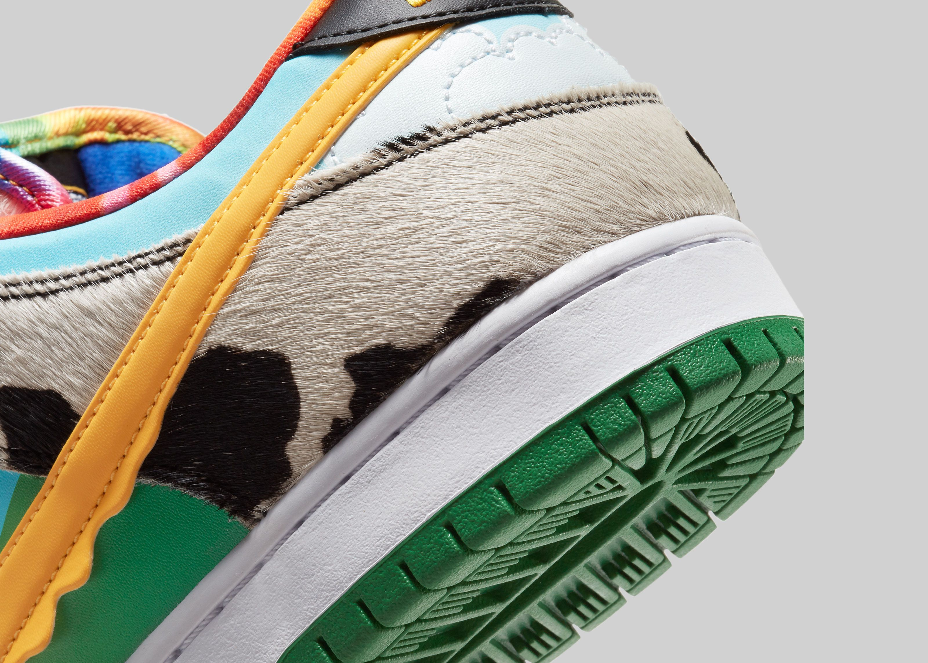 Ben & Jerry's x Nike SB Dunk Low Chunky Dunky Angled Heel