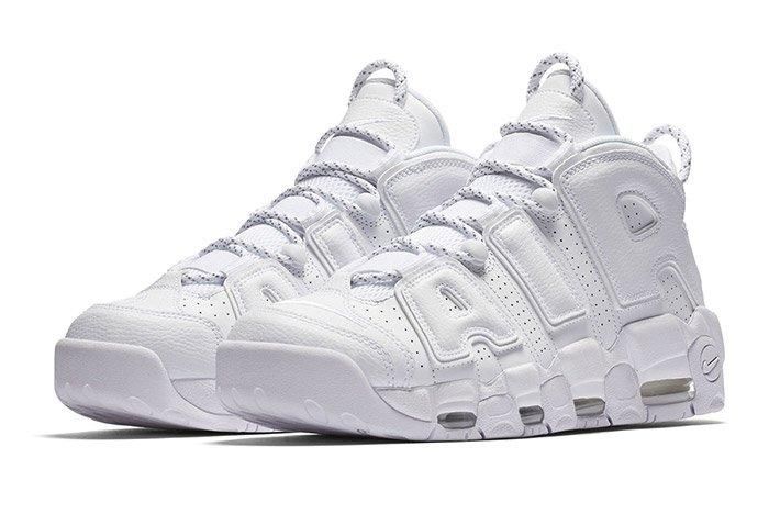 Nike Air More Uptempo Triple White 5