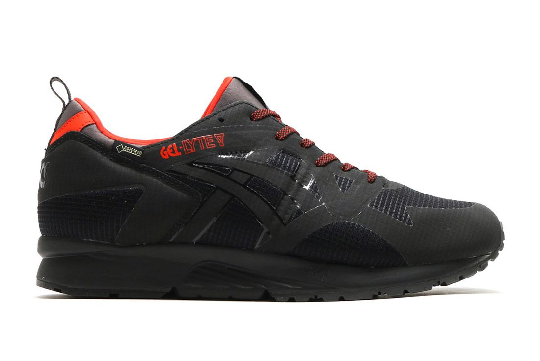 Asics Gel Lyte V Gore Tex Black Red 5