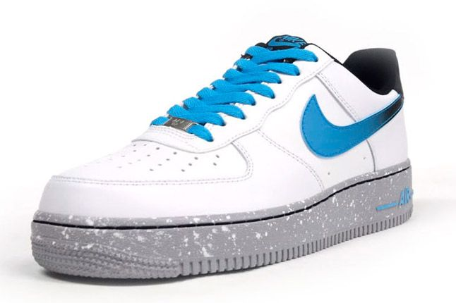 Nike Air Force One Low Grey Speackle Quater Front 1