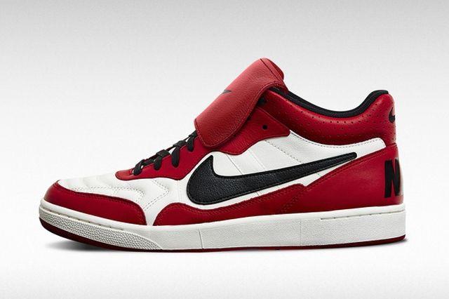 Nike Tiempo 94 Jordan Black Red White Profile