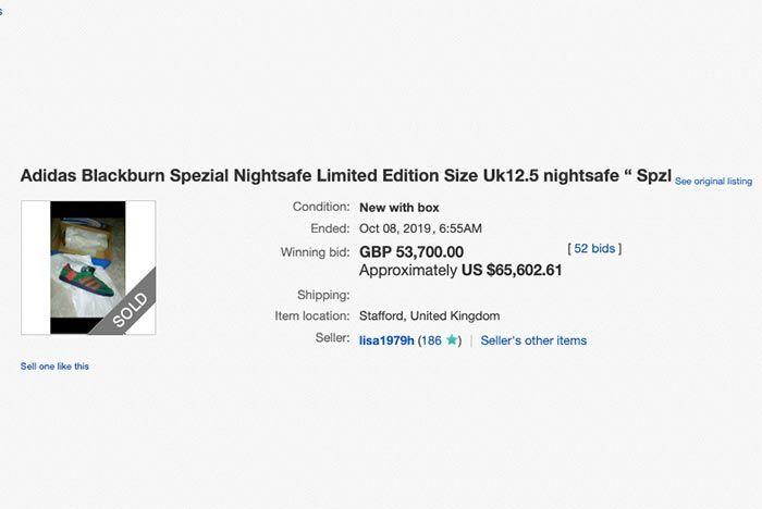Adidas Blackburn Auction