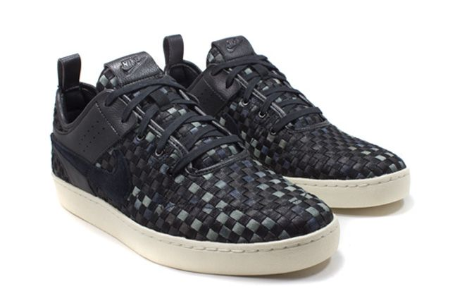 Nike Nsw Courtside Woven Black Quater Front 1