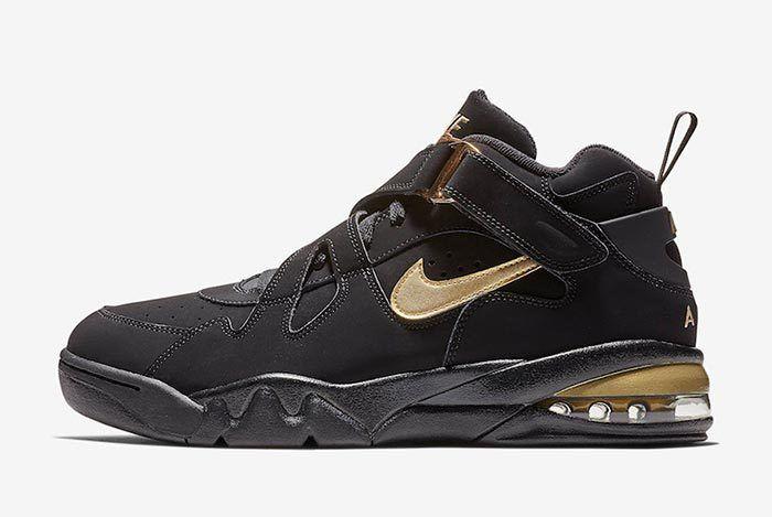 Nike Air Force Max Cb Black Metallic Gold 2