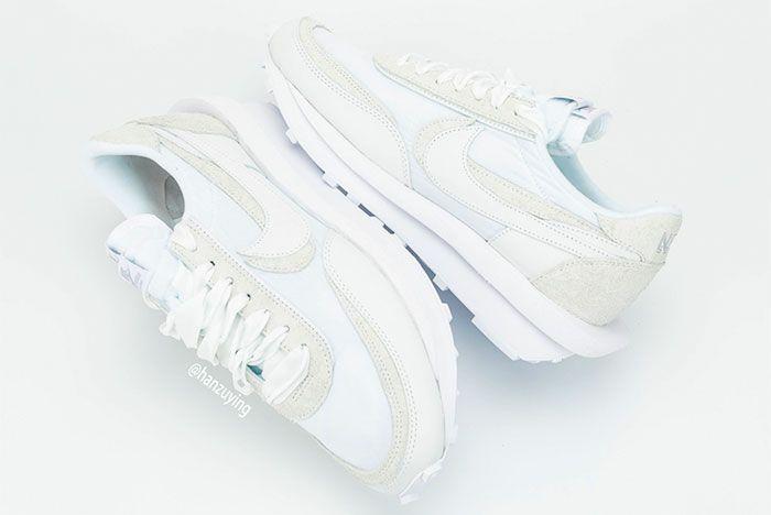 Sacai Nike Ldwaffle White Nylon Mid 2