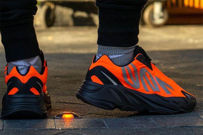 Adidas Yeezy Boost 700 Mnvn Orange Heel 2