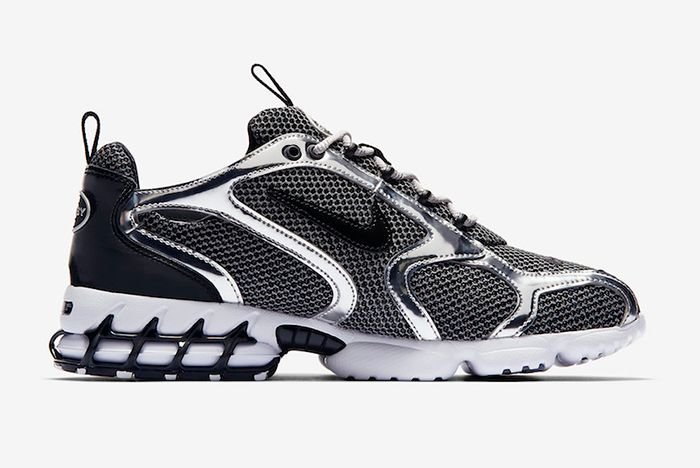 Stussy Nike Air Zoom Spiridon Caged Pure Platinum Right