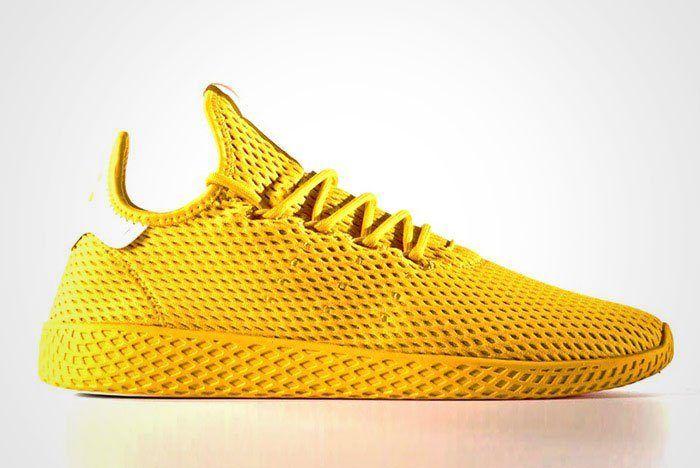 Pharrell Williams Adidas Tennis Hu Yellow Thumb