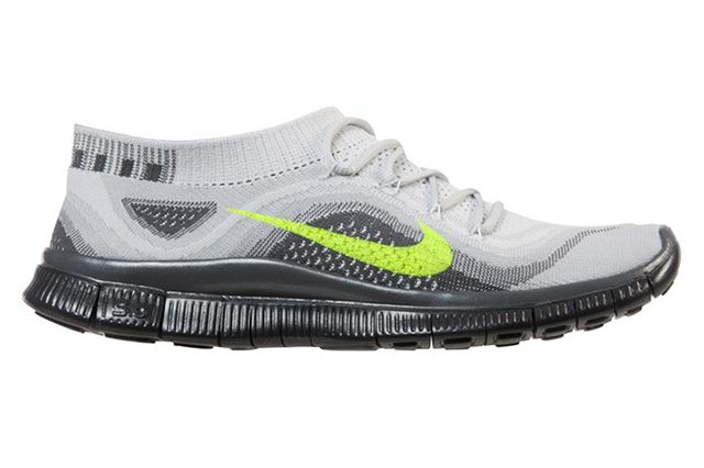 Nike Free Flyknit Black Grey Volt